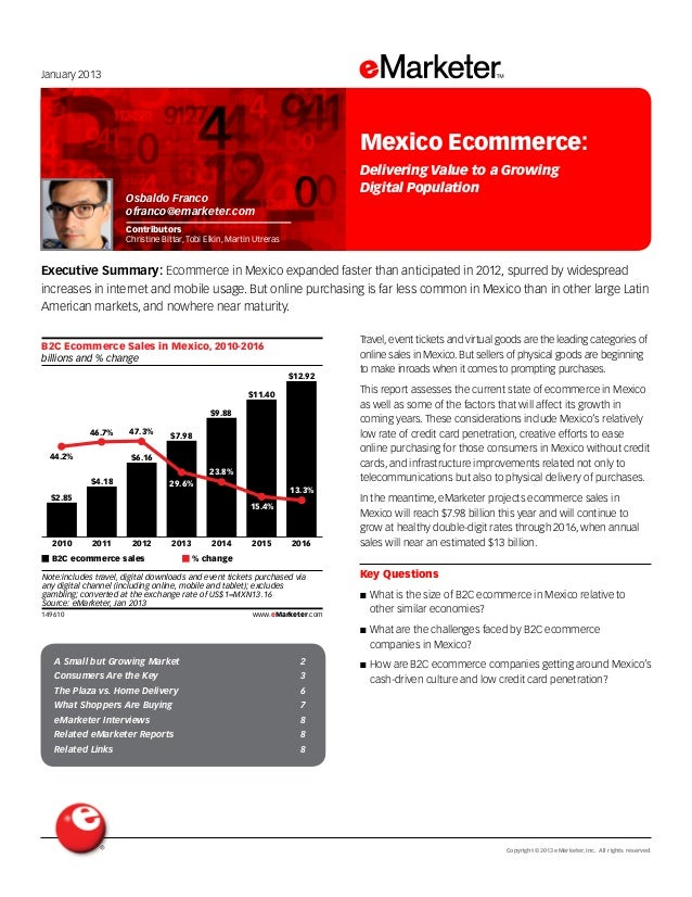 Copyright ©2013 eMarketer, Inc. All rights reserved.A Small but Growing Market 2Consumers Are the Key 3The Plaza vs. Home ...