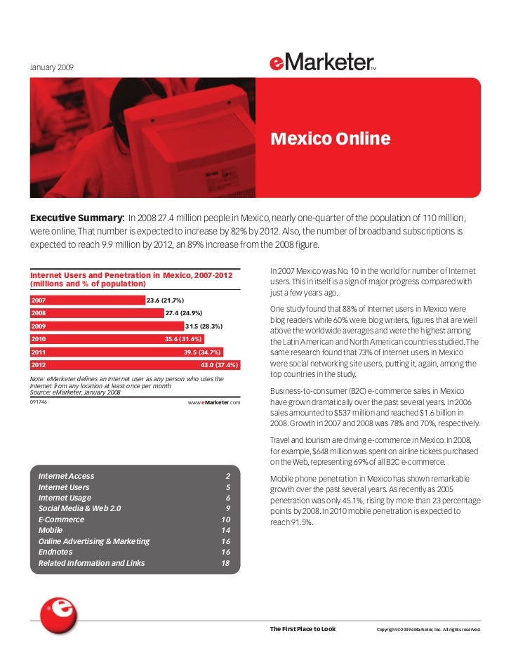 January 2009                                                                                         Mexico Online    Exec...