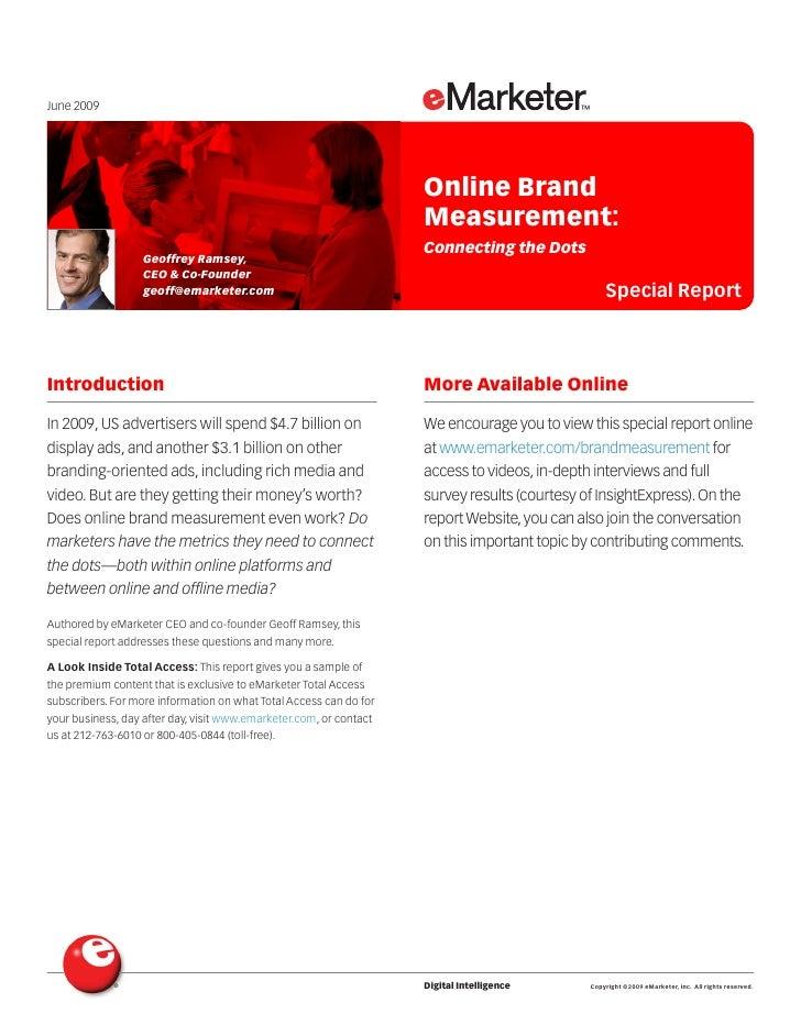 June 2009                                                                         Online Brand                            ...