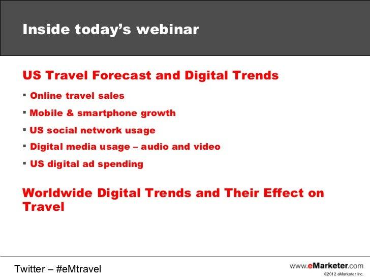 eMarketer Webinar: Digital Travel Outlook Slide 2