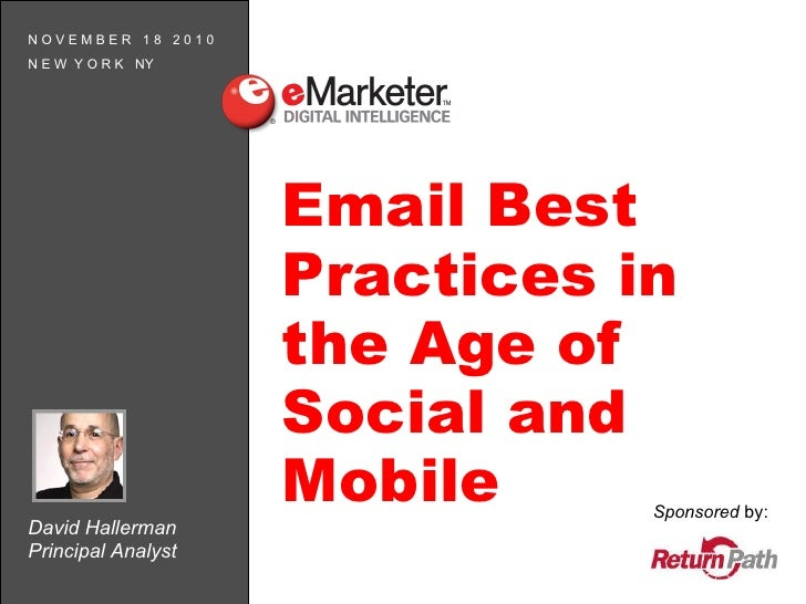 eMarketer Webinar: Email Best Practices in the Age of Social and Mobile