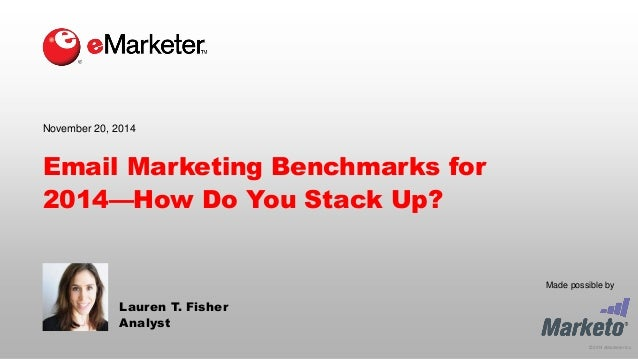 © 2014 eMarketer Inc.  Made possible by  Email Marketing Benchmarks for 2014—How Do You Stack Up?  Lauren T. Fisher  Analy...