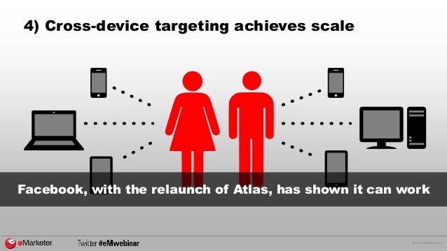 © 2014 eMarketer Inc.  4) Cross-device targeting achieves scale  Facebook, with the relaunch of Atlas, has shown it can wo...
