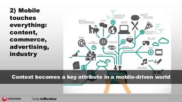 © 2014 eMarketer Inc.  2) Mobile  touches  everything:  content,  commerce,  advertising,  industry  Context becomes a key...