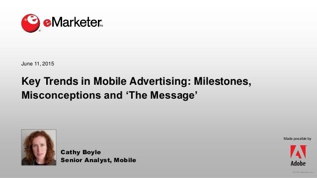 Emarketer webinar key trends in mobile advertising for Mobili ad trend