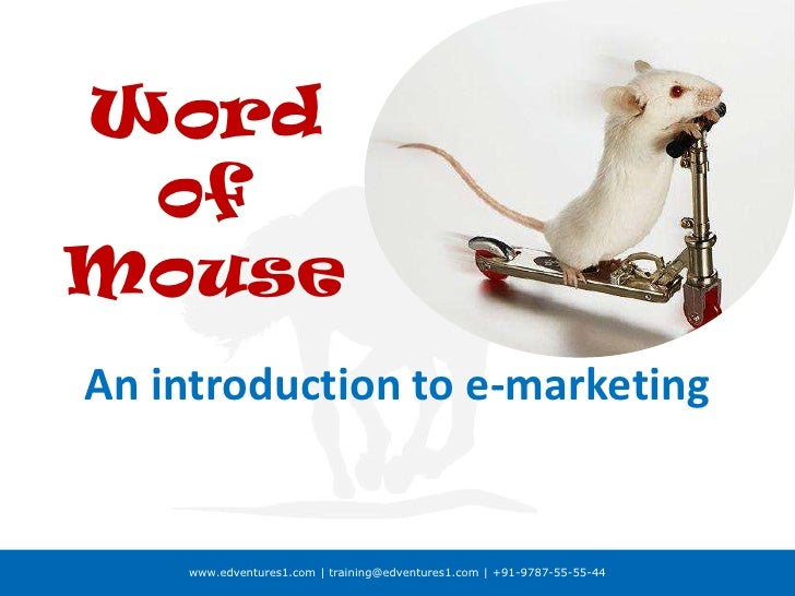 Word of Mouse<br />An introduction to e-marketing<br />