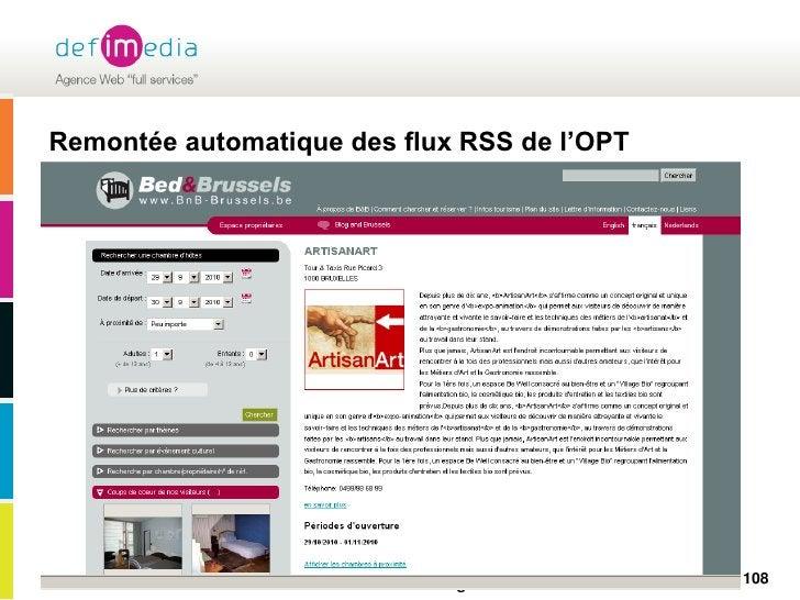Remontée automatique des flux RSS de l'OPT<br />108<br />