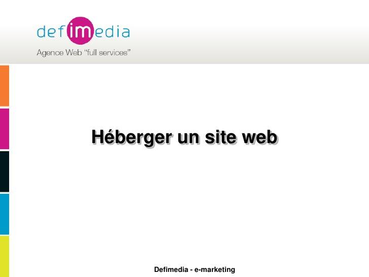 Héberger un site web<br />
