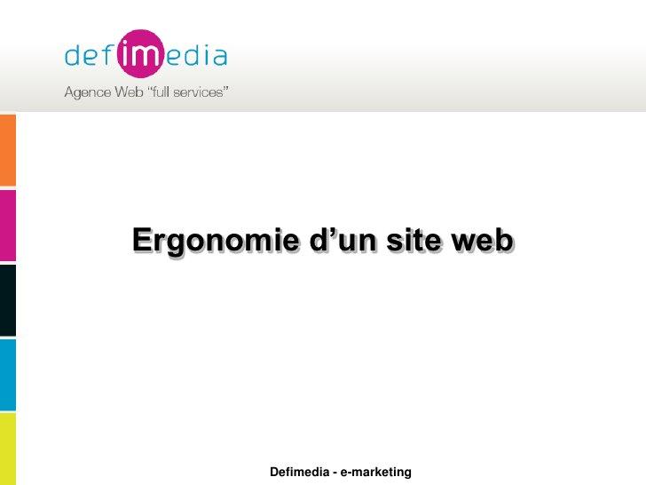 Ergonomie d'un site web<br />