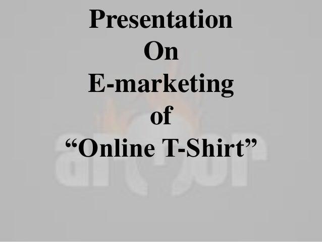 Marketing plan t shirts