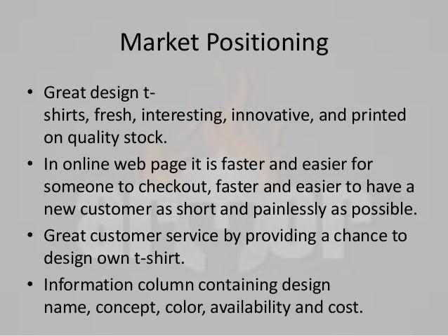 E-marketing business plan on T-shirt