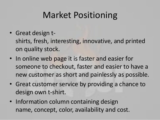 marketing plan of pms shirt Check out our glossary of common marketing terms to gain a deeper understanding of how marketing works in the business world the balance glossary menu search go go personal finance budgeting strategic marketing plan: learn about the components and benefits.