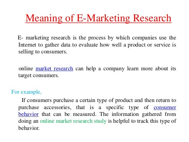 E marketing research