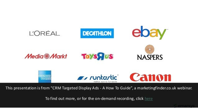 """This presentation is from """"CRM Targeted Display Ads - A How To Guide"""", a marketingfinder.co.uk webinar. To find out more, ..."""