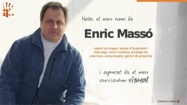 Enric Massó expert de negoci, motor d'inspiració i lideratge, ment creativa, cercador de solucions, comunicador, gestor de...