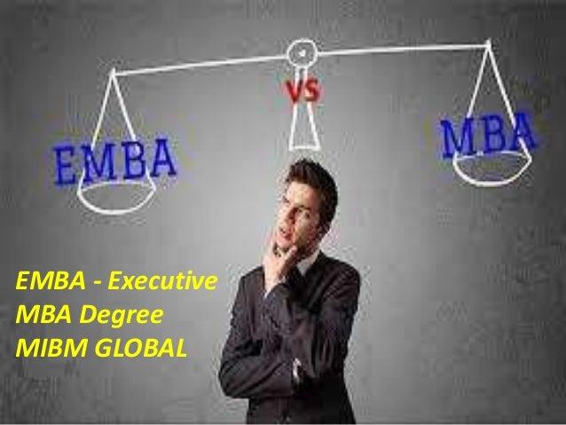 EMBA - Executive MBA Degree MIBM GLOBAL