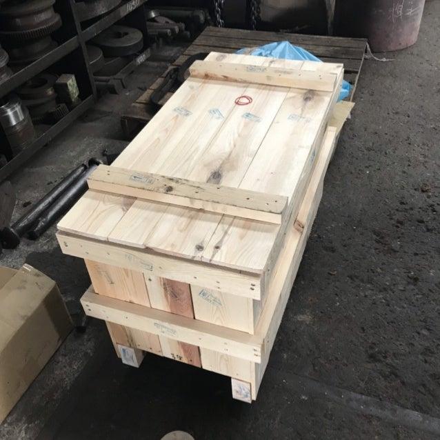 Embalagem de madeira