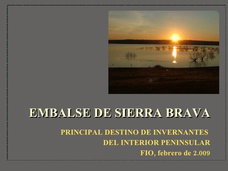 EMBALSE DE SIERRA BRAVA <ul><li>PRINCIPAL DESTINO DE INVERNANTES  </li></ul><ul><li>DEL INTERIOR PENINSULAR </li></ul><ul>...