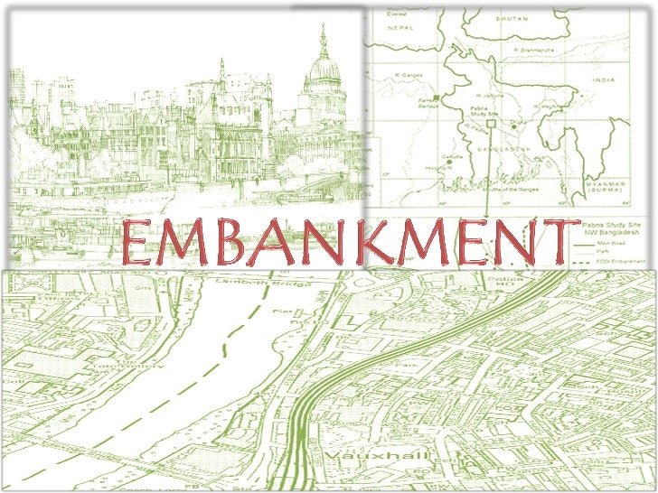 An embankment is an artificial barrier thattypically is used to hold back water or tosupport a roadway, railway, or canal....