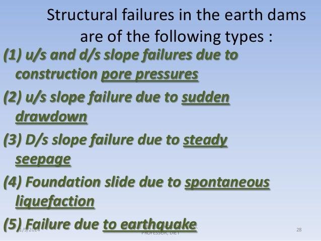 causes of failure of earthern dam Slide 1 4) foundation slide 5) failure by spreading 6) failure by earth  the earthen dam using geo-studio  seepage models for seepage analysis of earthen .