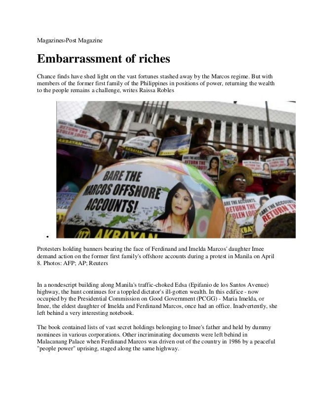 Magazines›Post MagazineEmbarrassment of richesChance finds have shed light on the vast fortunes stashed away by the Marcos...