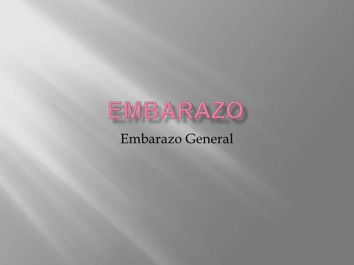 Embarazo General