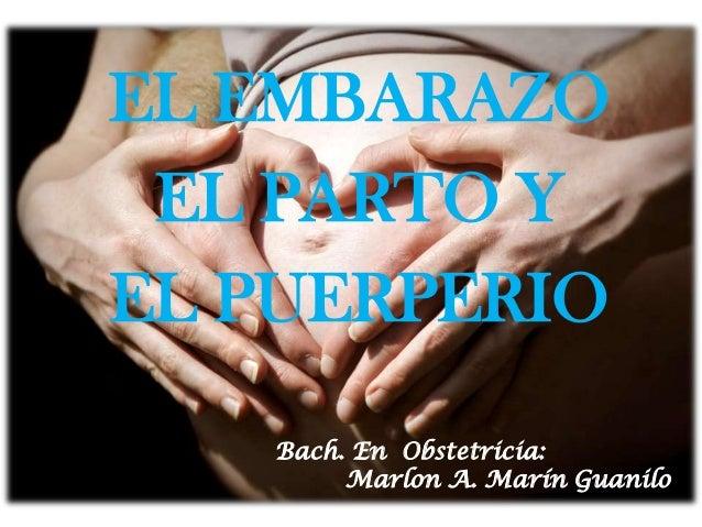 EL EMBARAZO EL PARTO Y EL PUERPERIO Bach. En Obstetricia: Marlon A. Marín Guanilo