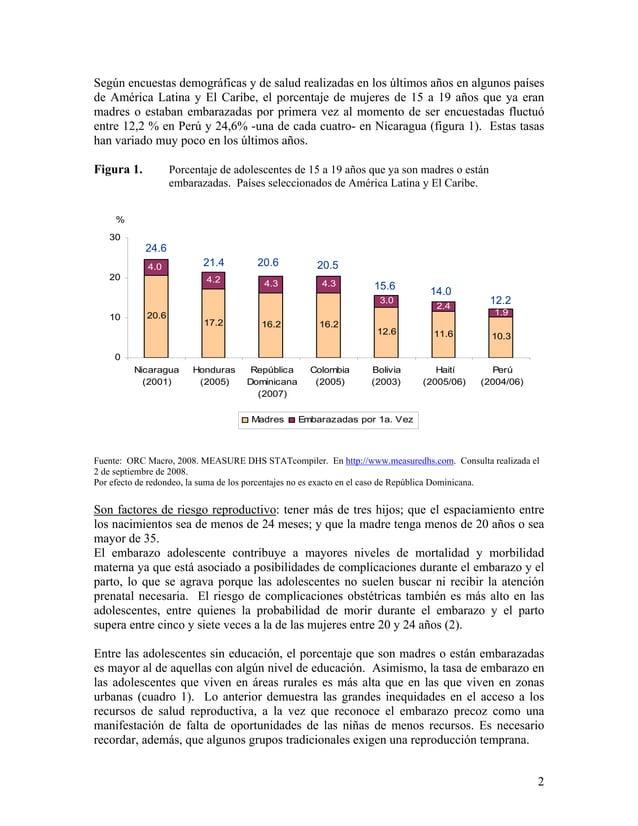 Según encuestas demográficas y de salud realizadas en los últimos años en algunos países de América Latina y El Caribe, el...