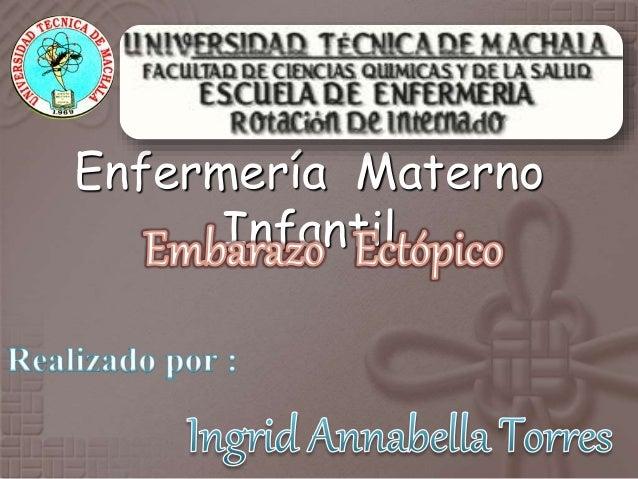 1a84339fd Embarazo Ectopico Cuidados de enfermería. Enfermería Materno Infantil ...