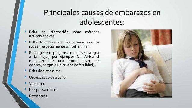 Embarazo en adolescentes exposicion