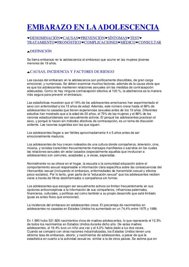 """HYPERLINK """"http://www.tuotromedico.com/indice_adolescencia.htm"""" EMBARAZO EN LA ADOLESCENCIA<br /> HYPERLINK """"http://www.t..."""