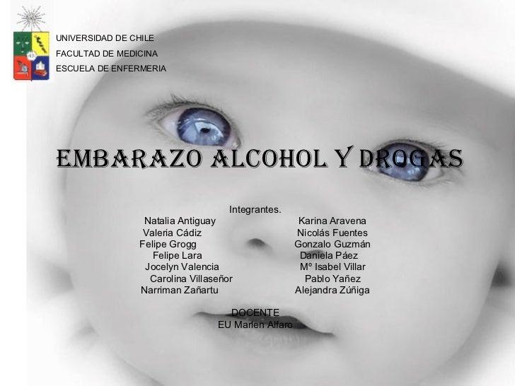 EMBARAZO ALCOHOL Y DROGAS Integrantes. Natalia Antiguay Karina Aravena Valeria Cádiz Nicolás Fuentes Felipe Grogg Gonzalo ...