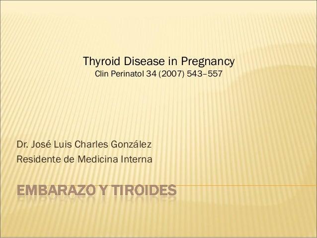 embarazo y tiroides