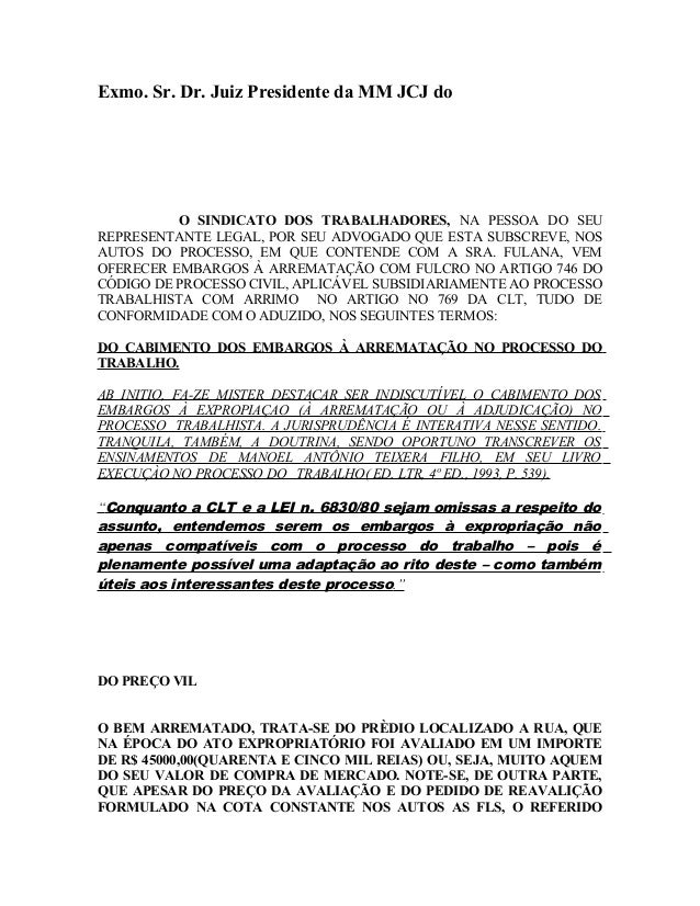 Exmo. Sr. Dr. Juiz Presidente da MM JCJ do O SINDICATO DOS TRABALHADORES, NA PESSOA DO SEU REPRESENTANTE LEGAL, POR SEU AD...