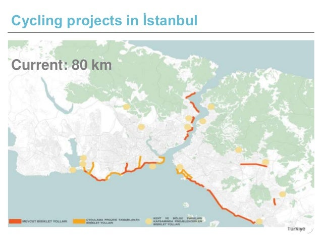 Cycling projects in İstanbul Current: 80 km