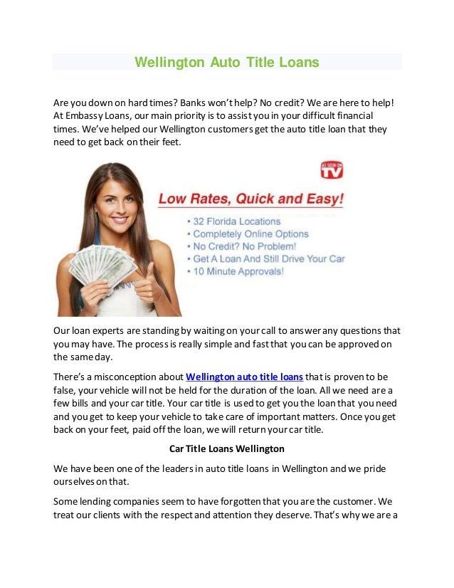 Title Loans Wellington