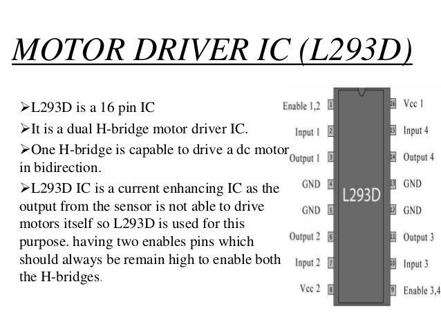 Pin diagram of l293d motor driver for L293d motor driver datasheet