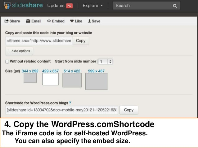 5. Paste Shortcode Into WordPress.comPost or Page