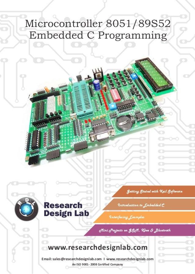 Embedded c programming guide e book atmel 8051 / 89c51 /89c52