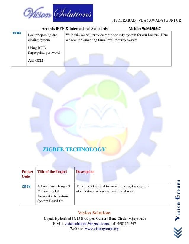 Ieee Embedded Ece Project List
