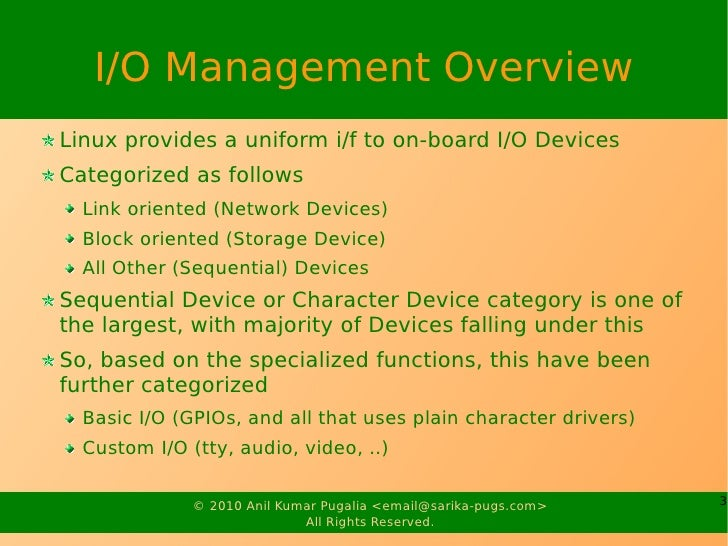 Embedded I/O Management Slide 3