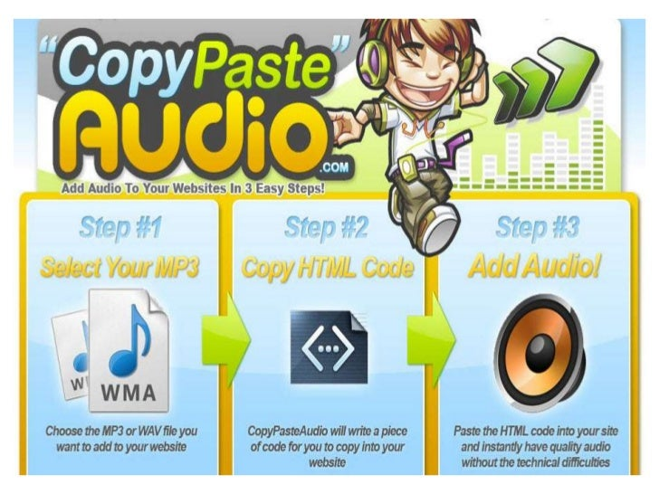 Use Audio Testimonials for  Even Greater CredibilityAn Embed Audio Player Makes Your    Page Easier to Remember