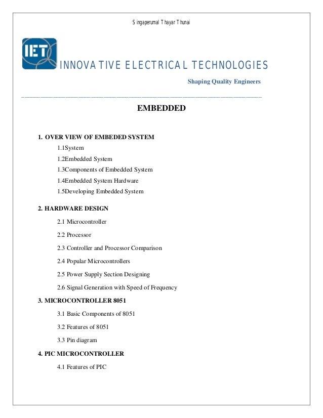 Singaperumal Thayar Thunai INNOVATIVE ELECTRICAL TECHNOLOGIES Shaping Quality Engineers __________________________________...