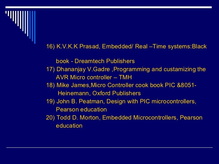 Embedded System Black Book By Kvkk Prasad Pdf Free Download Pdf Index Generator Open Source