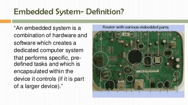 Embedded system in automobile