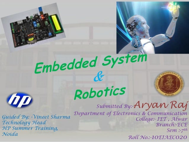 Submitted By:-Aryan Raj Department of Electronics & Communication College:- IET , Alwar Branch:-ECE Sem :-7th Roll No.:-10...