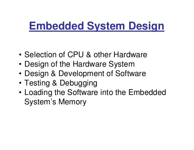 Embedded Systems A Brief Introduction