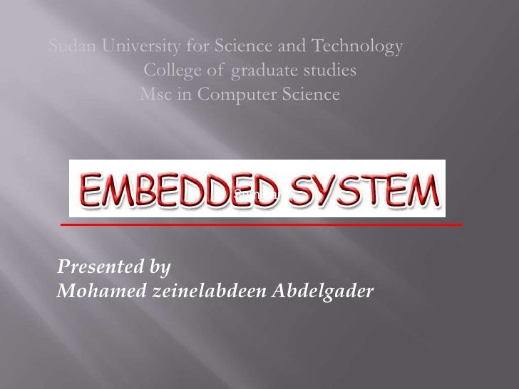 Sudan University for Science and Technology          College of graduate studies          Msc in Computer Science         ...