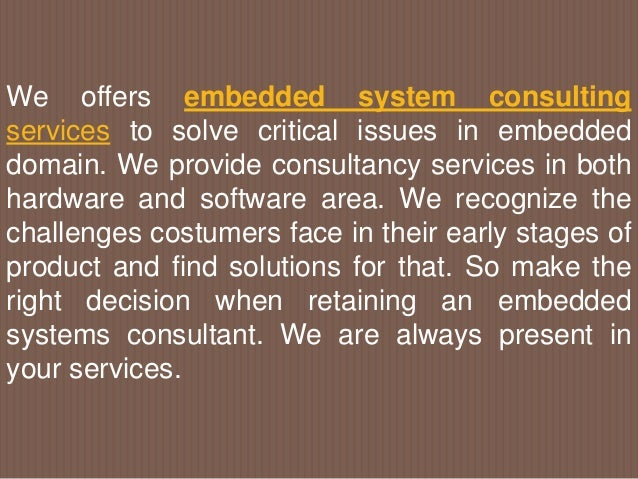 Embedded system services Slide 2