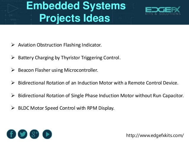 Embedded Systems Projects Ideas